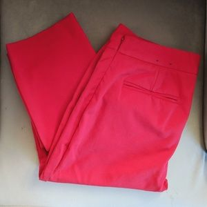 Lands End mid rise slim leg pants in red